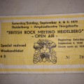British Rock Meeting 1971 Ticket