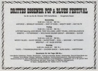 3-internationales-essener-pop-blues-festival 1970 Poster