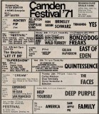 Camden Festival 1971 Poster