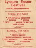 Lyceum Easter Festival 1971