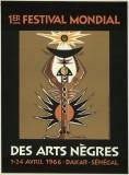 1er Festival Mondial des Arts Nègres 1966 Poster
