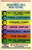 Forest Hills Music Festival 1970 Poster