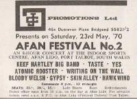 Afan Festival Number 2 1970