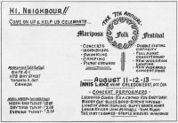 Mariposa Folk Festival 1967 Poster