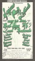 2nd Saginaw Pop Festival 1969 Poster