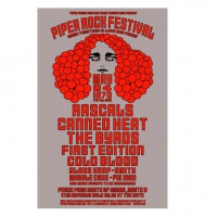 Piper Rock Festival 1970 Poster - Artwork by Bear