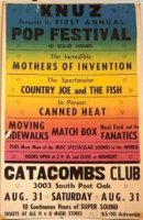 Catacombs Pop Festival 1968 Poster