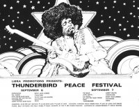 Thunderbird Peace Festival 1969 Poster by Bob Masse