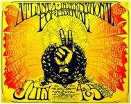 Atlanta International Pop Festival 1969 poster