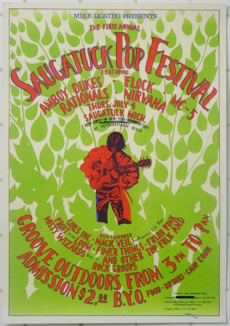 1st Annual Saugatuck Pop Festival 1968