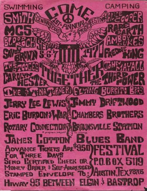 Central Texas Music Festival 1970