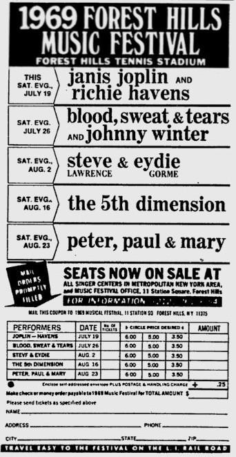 Forest Hills Music Festival 1969