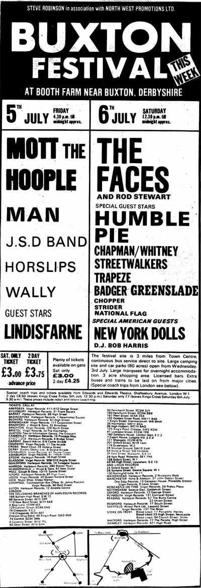 Buxton 'Pop' Festival 1974