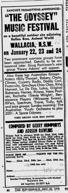 Odyssey Pop Festival 1971
