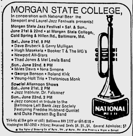 Morgan State Jazz Festival 1969