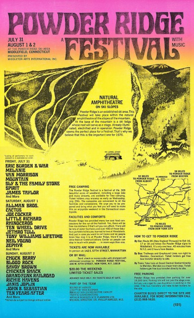 Powder Ridge Festival 1970