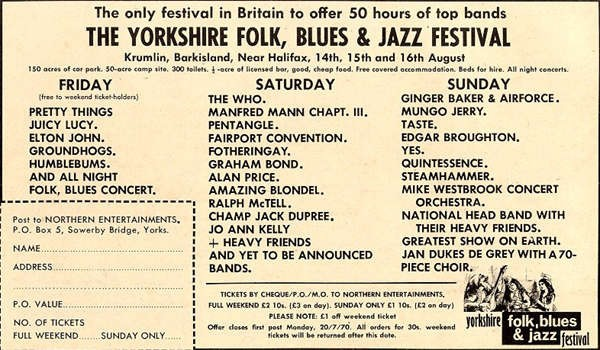Yorkshire Folk, Blues & Jazz Festival 1970