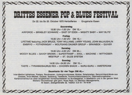 III. Essener Pop & Blues Festival 1970