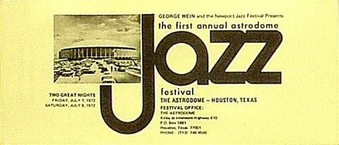 Astrodome Jazz 1972