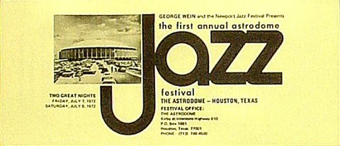 Astrodome Jazz Festival 1972