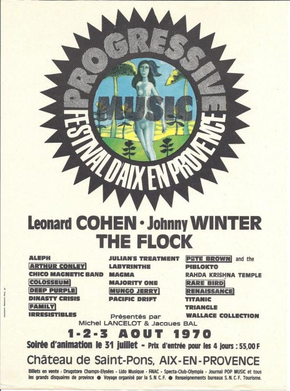 Progressive Festival D'Aix En Provence 1970