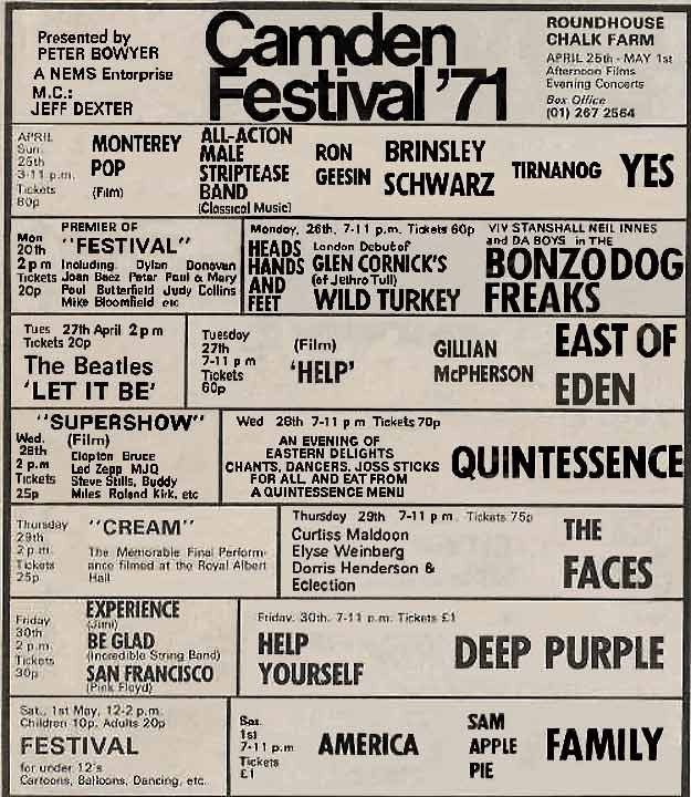 Camden Festival 1971