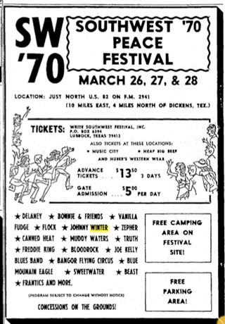 Southwest Peace Festival 1970