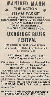 Uxbridge Blues Festival 1966
