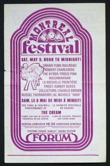 Montreal Pop Festival 1970