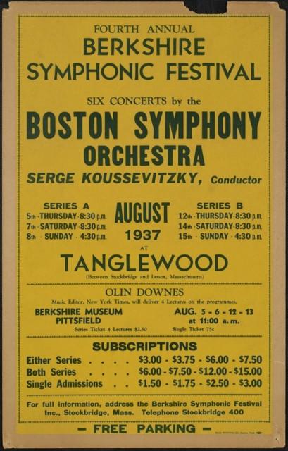 Berkshire Symphonic Festival 1937