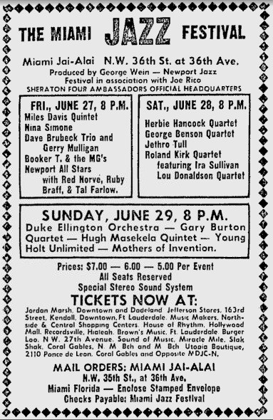 Miami Jazz 1969