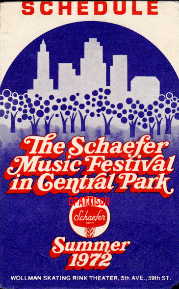 Schaefer Music Festival 1972