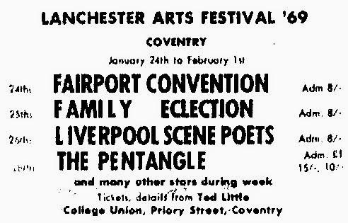 Lanchester Arts Festival 1969